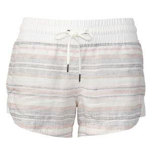 Athleta Cabo beachside Linen 3.5 shortie shorts